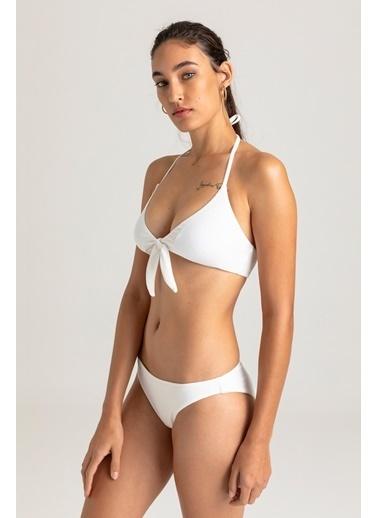 Vulevu Vulevu Tie-Front Bikini Top Beyaz